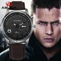 Los Hombres de moda de Cuarzo Relojes Hombres Marca de Lujo de Los Hombres Relojes Casual de Negocios Masculino de Cuero Militar Reloj Relogio masculino