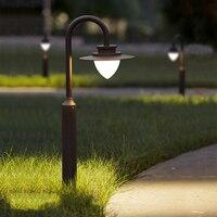 Современный 8 Вт уличный свет 80 см высоком Водонепроницаемый Открытый освещения лестницы Алюминий свет сада сообщение светильник для двор
