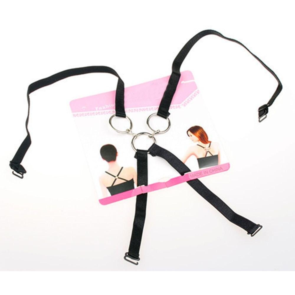 1 Pc Fashion Charming Sexy Frauen Hinter Dem Bogen Unsichtbare Drei-ringe Unterwäsche Schulter Gurt Quer Gürtel Sommer Zubehör