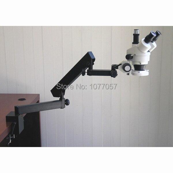 Top vente CE, ISO 3.5x-45x bras articulé zoom microscope stéréo-microscope trinoculaire/bras flexible, bien vendu dans l'ue, états-unis