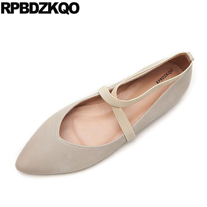 Vintage Designer Ballerina White Red Wine Elastic Genuine Leather Japanese Pointed Toe Shoes Ankle Strap Soft Ballet Flats WomenVintage Designer Ballerina White Red Wine Elastic Genuine Leather Japanese Pointed Toe Shoes Ankle Strap Soft Ballet Flats Women