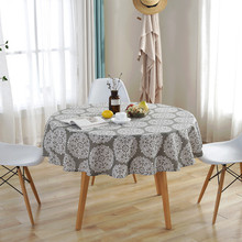Modern Round Table Cover Cotton Linen Haute Gray 150CM Tablecloths Nordic Style Home Decorative High Quality Cloths