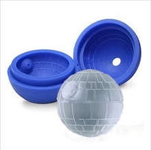 цена на  Death star wars silicone ice cube tray ice ball mould bar party ice mold forma de gelo ice cream tools