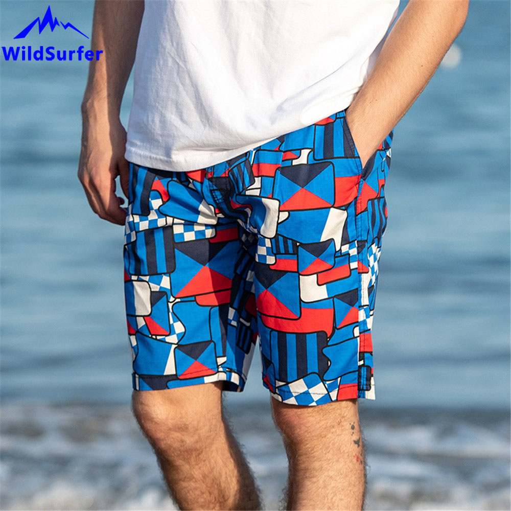 WildSurfer 2019 Beach Short Men Plus Size Quick Dry Swimwear Shorts Bermudas Surfing Pants Boardshort Mens Swimming Shorts SP76 in Surfing Beach Shorts from Sports Entertainment