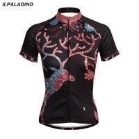 ILPALADINO Women Cycling Jersey Mtb Team Cycling Clothing Outdoor Sportswear Short Sleeve Riding Maillot Clothing CC7132