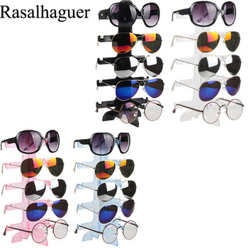 Fashion Colors Plastic 5 Pairs Of Glasses Frame Sunglasses Display Stand Sunglasses Display Stand Glasses Display Stand