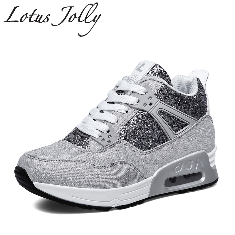 Bling Leather Shoes Handmade Luxury Brand Tenis Feminino Sapato 2017 Women Casual Shoes Basket Air Superstar Elevator Shoes туфли на высоком каблуке tenis feminino femininos sapatos sapato feminino platform shoes