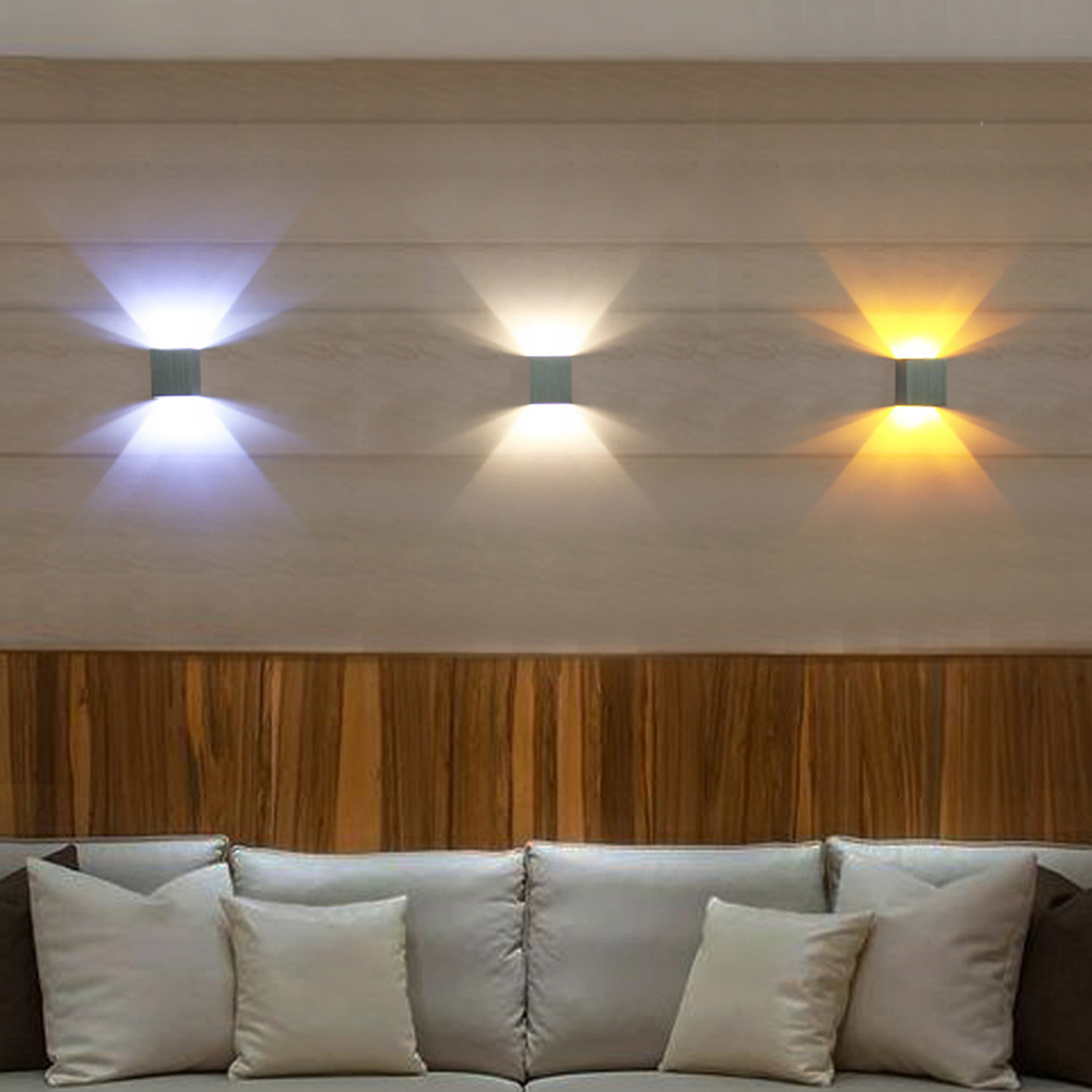 Modern Sconce Led Wall Light lamps Aluminum 8 colors 3W AC85 265V home garden bedroom Foyer decor KTV BAR L in LED Indoor Wall Lamps from Lights Lighting
