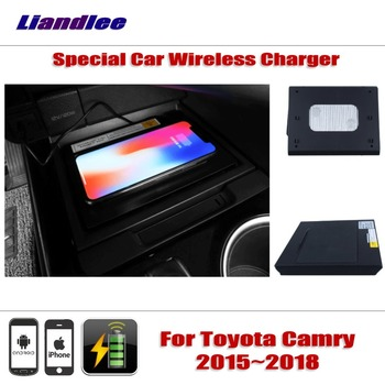 Accessories For Toyota Camry 2015~2018 Special hidden Car Wireless Charger Storage For IPhone Android Iphone Battery Charger image