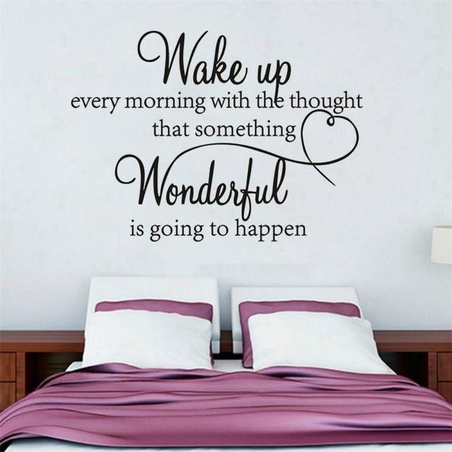 Stylish Wake Up Removable Wall Sticker