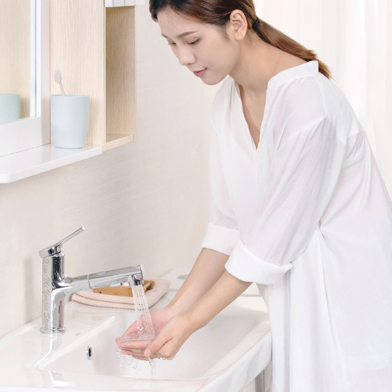 Image 5 - Xiaomi Mijia Dabai Bathroom Basin Faucet With Pull Down Sprayer 2 Spray Mode Single Lever Handle Mixer Tap-in Smart Remote Control from Consumer Electronics
