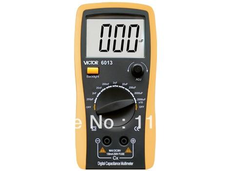 VC6013 Capacitance Meter Digital LCR Meter New type holster, streamline design.  цены