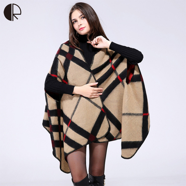 13 Style Winter Scarf Luxury New Brand Women's Poncho Vintage Blanket Womens Lady Knit Shawl Cape Cashmere Pashmina AM279