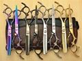 2Pcs 6.0 Inch 17.5cm Kashio Professional Human Hair Scissors Hairdressing Shears Cutting + Thinning Shears Dragon Carving Z9005