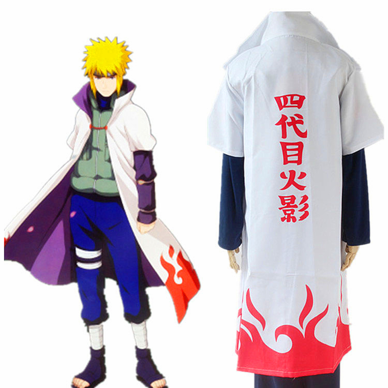 Hot Sales Anime Naruto Cosplay Costumes Fourth Hokage Namikaze Minato Cape Outfit Cosplay Cloak Halloween Cosplay party