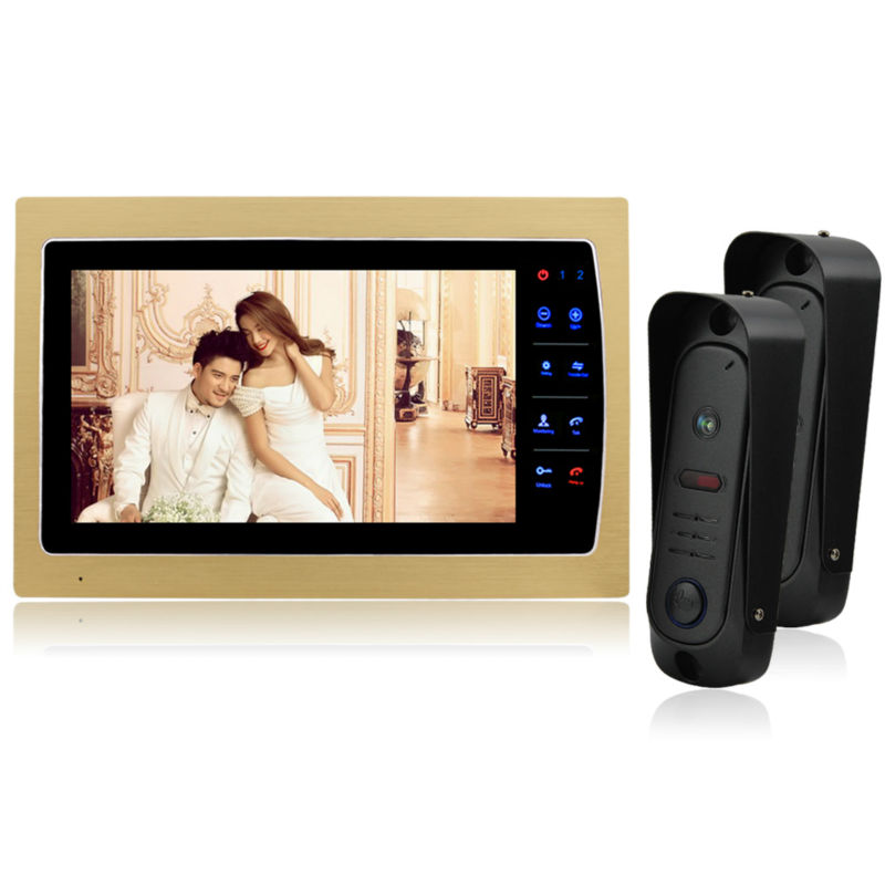 Homefong 7 inch Color Monitor Video Door Phone Door Bell Intercom System IR Camera 800 x 480 Resolution Volume Adjustable door intercom video cam doorbell door bell with 4 inch tft color monitor 1200tvl camera