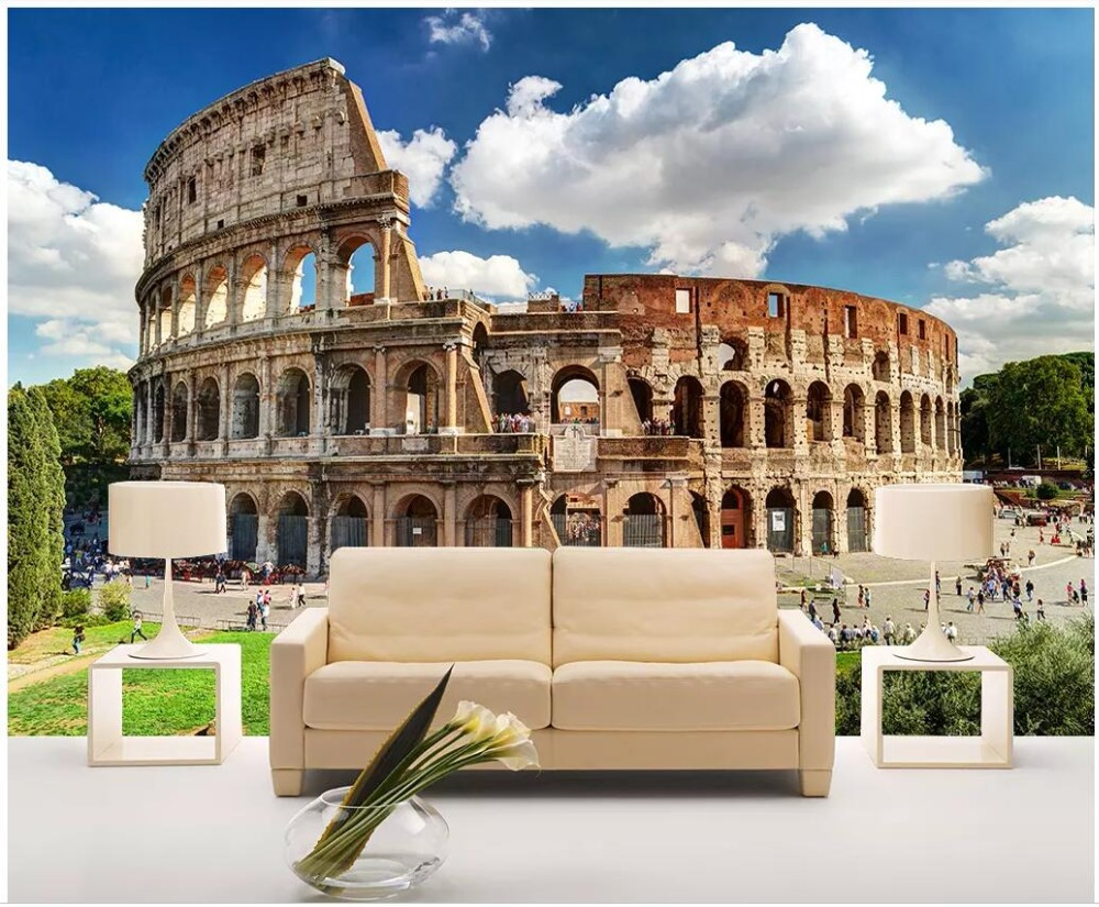 WDBH Custom Photo 3d Wallpaper Roman Architecture Colosseum Ruins Landscape Home Decor 3d Wall Murals Wallpaper For Walls 3 D