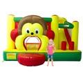 YARD Free Shipping Cartoon Monkey Inflatable Slide Bouncer Bouncy Castle Jumper Combo