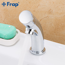 Frap Basin Faucet bathroom Single Handle 304 stainless steel Single Hole Tap Basin Single Cold Water Faucet Basin Mixer Sink t004 pure water stainless steel single mouth gooseneck faucet