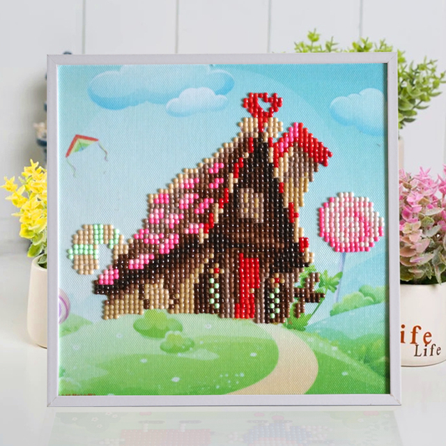 NEW Cartoon House Resin Puzzle Kids Art Crafts DIY Handmade 3D Learning Educational Puzzles For Children