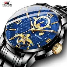 Fashion Mechanical Watch TEVISE Men Wate
