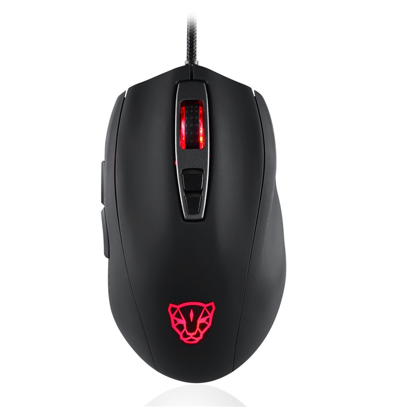MOTOSPEED V60 5000DPI Professional Breathing Optical Wired Gaming RBG Mouse Futural Digital jiu8