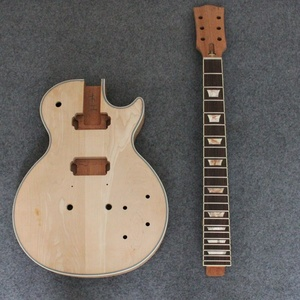 Image 4 - Mahogany Electric Guitar Body Neck For LP Electric Guitar Luthier Project KIT