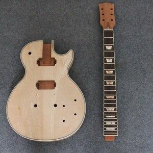 Image 4 - Manche de guitare électrique en acajou pour KIT de projet de Luthier de guitare électrique LP