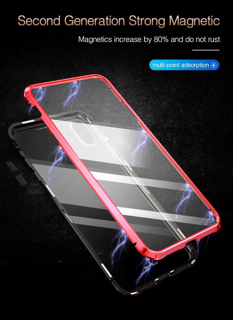 LUPHIE 360 Degree Full Magnetic Case For iPhone X XS Max XR 8 7 Plus (5)