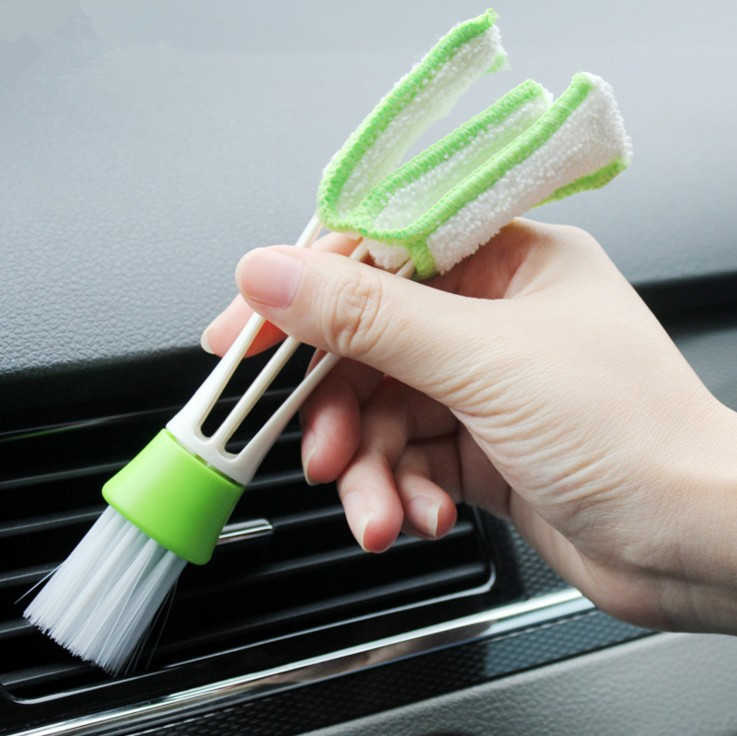 Car Interior <font><b>Accessories</b></font> For Ford <font><b>Mustang</b></font> <font><b>2015</b></font> 2016 2017 Air Conditioner Outlet Cleaning Brush Car Styling image