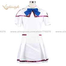 Kisstyle Fashion The Super Dimension Fortress Macross Ranka Lee White Uniform COS Clothing Cosplay Costume,Customized Accepted