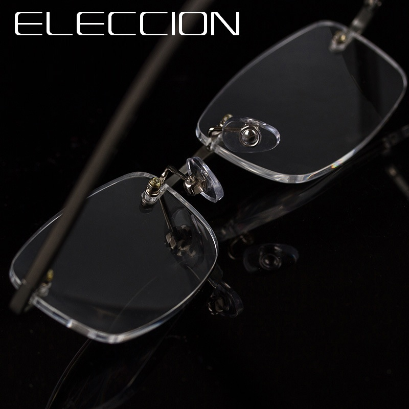 ELECCION Rimless Reader Eyewear Ultralight Reading Glasses For Mens Glasses Magnifier Women Glasses for men With Diopters