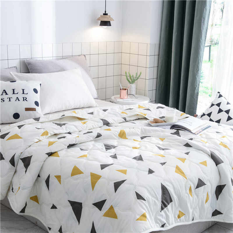 Flamingo Geometric Summer Quilt Blankets Comforter Bed Cover Quilting Home Textiles Suitable for Children Adults Twin Queen size
