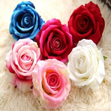 1 pc Silk Roses for Wedding Party Artificial Fflower Rose Flower Head Fake