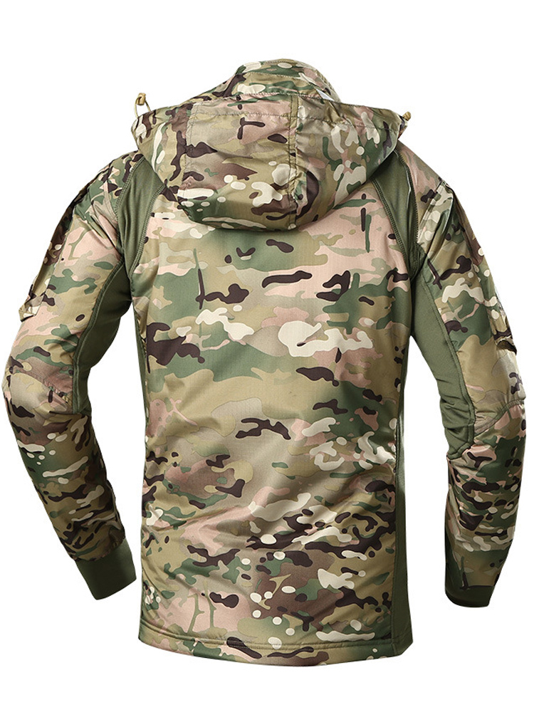 Hooded Coat Chaqueta Bomber-Jacket Windbreaker MEGE Us-Army Military Waterproof Camouflage
