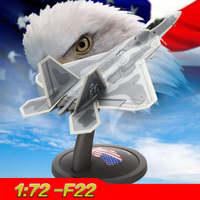1/72 scale U.S. American Navy Army F22 Raptor fighter aircraft airplane models adult children toys for display show collections