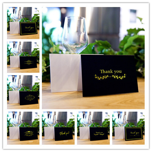 Mixed Style Gold Foil Thank You Cards Bulk Perfect For Wedding