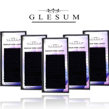 GLESUM  5cases set mink fake eyelash extension individual eyelashes nature