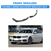 Carbon Fiber Front Bumper Lip Splitters Side Aprons Spoiler for BMW 5 series G38 M Sport Sedan 2017 2018 Car Tuning Parts
