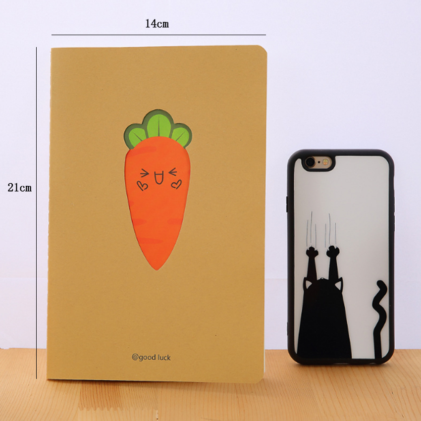 1pcs lot Lovely Carrots Kraft Paper Diary A5 Notepad Planner Weekly Book School Supplies Stationery in Notebooks from Office School Supplies