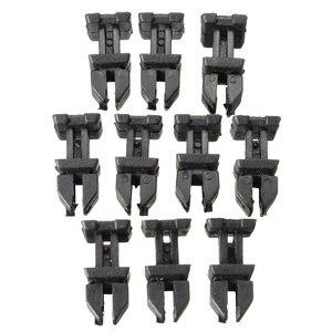 Image 2 - 10 adet/takım kapı plastik Panel klip itme tutucusu vücut paneli klipler Mercedes Benz için W124 R129 W140 W202