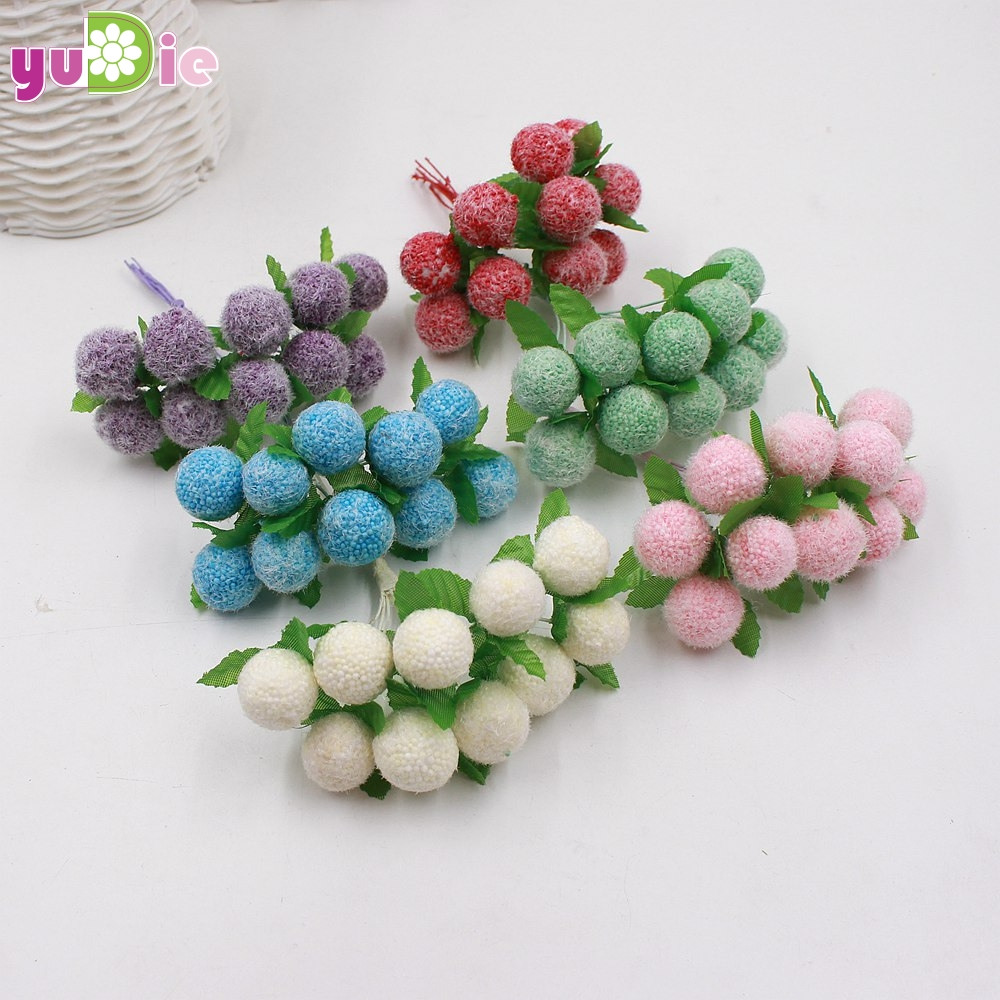 Mejores ventas 10 unids/lote pequeño ramo de flores artificiales estambres baya