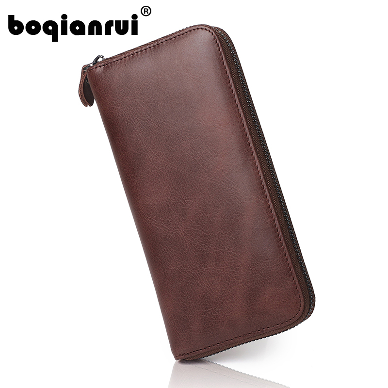 Newest Men Wallet Brand Famous Mens Leather Long Wallet Soli