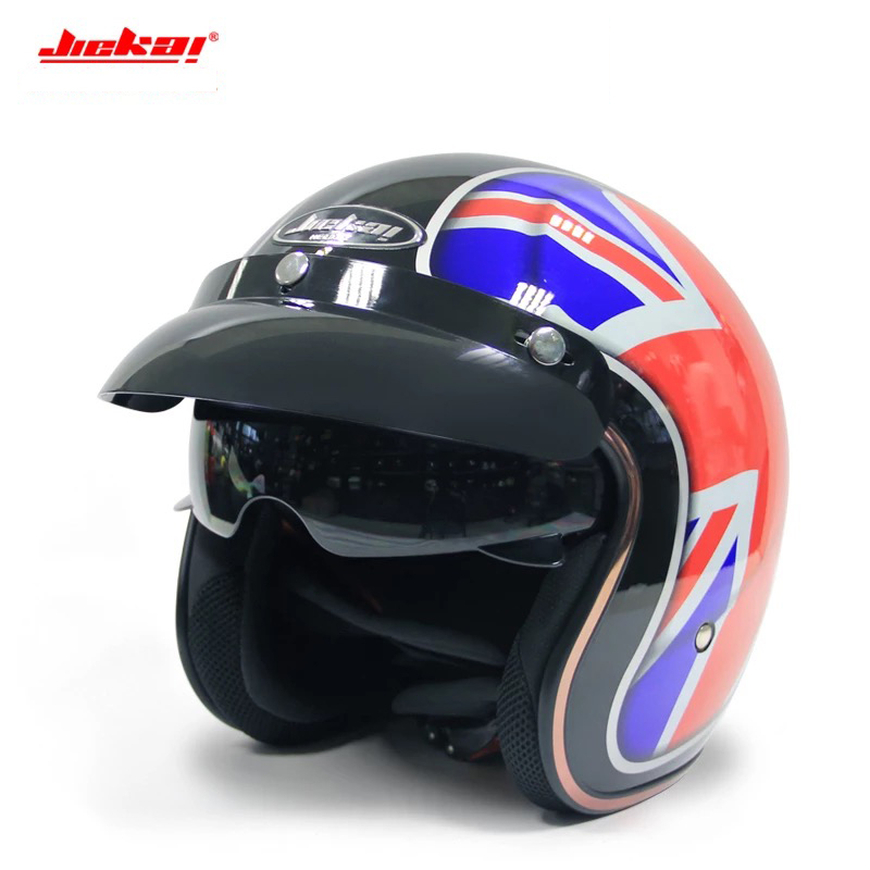 Jeikai 510 Half Face Vintage Motorcycle Helmet Jet Scooter Bike Helmet Retro Casque Motociclismo Mens Casco Moto