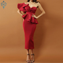 Ameision robe de soiree Sheath Evening Dresses Ruffles Pleats abiye gece elbisesi Gowns Formal Dress Elegant Candy Color