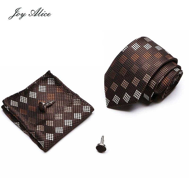 3 PCS Men NeckTie Set Bowtie Slim Necktie high quality Skinny 8cm width Tie dress Handkerchief Pocket Square Suit
