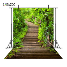 Laeacco Spring Green Hill Stairs Child Baby Portrait Scenic Photography Backgrounds Photographic Backdrops For Photo Studio