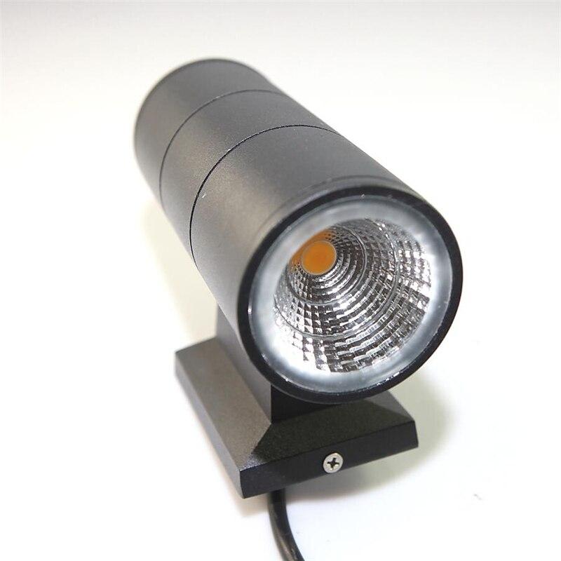 ФОТО Up down contemporary outdoor wall lamp Bridgelux 6W 10W 14W 20W 30W COB LED wall light IP65 exterior lighting AC85-265V input