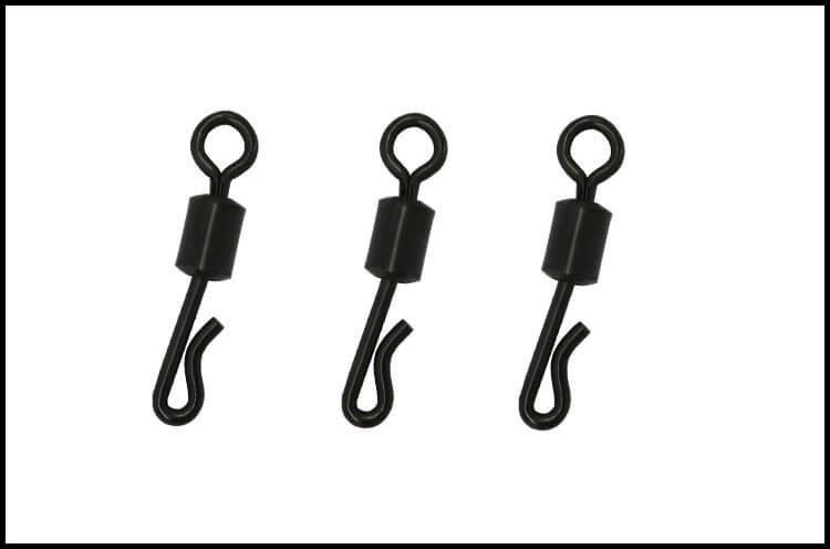 100pcs set Matt Black Quick change swivels 4 Carp Fishing tackle Lead clip chod rig Size 8 11 fit Safety lead clips All Position in Fishhooks from Sports Entertainment