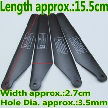 4PCS 2A 2B LiHuang LH109 Original Main Blades Porpellers Rotors Helicopter Rc Spare Parts Part